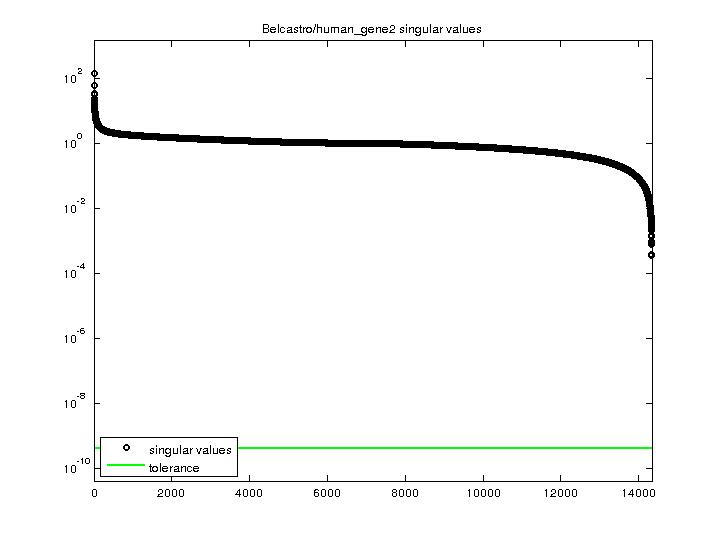 Singular Values of Belcastro/human_gene2