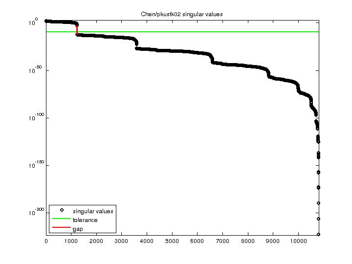 Singular Values of Chen/pkustk02