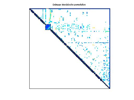 Dulmage-Mendelsohn Permutation of Sandia/adder_dcop_33