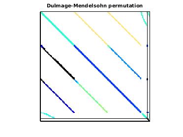 Dulmage-Mendelsohn Permutation of VLSI/test1
